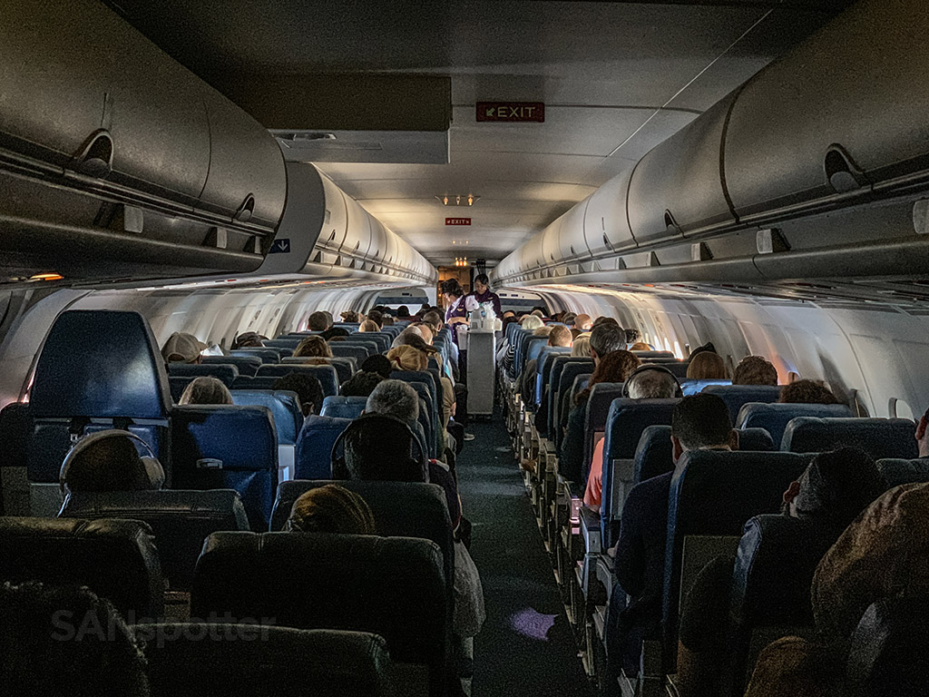 Delta MD-88 cabin pic