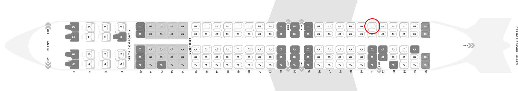 Delta MD-88 seat map