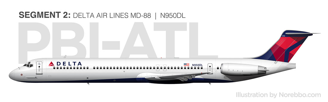 Delta Air Lines MD-88 side view