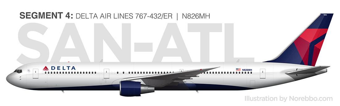 delta 767-400 side view