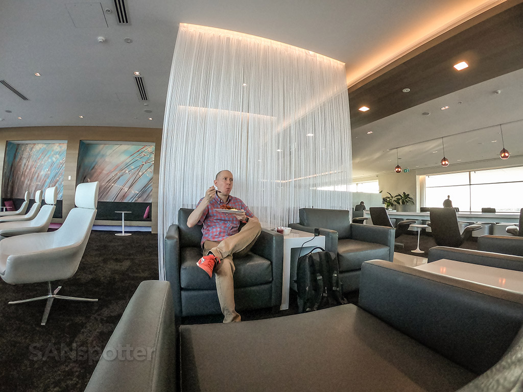 SANspotter selfie Air New Zealand Lounge Sydney
