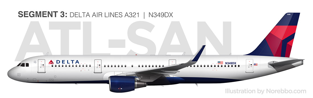 Delta A321 side view