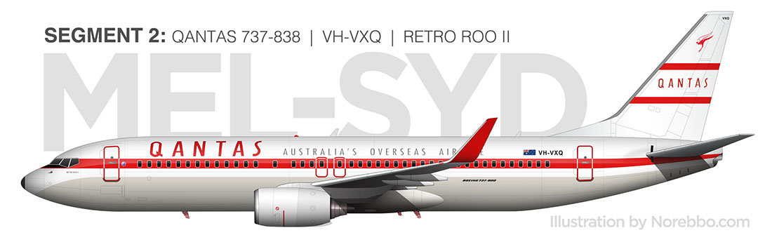 Qantas 737-800 Retro Roo II side view