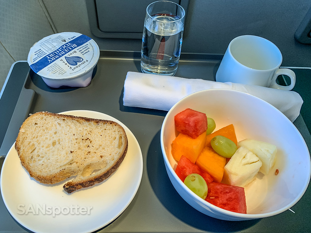 Qantas first clsss breakfast