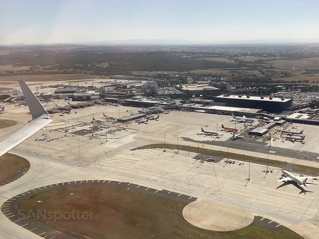 Melbourne airport overhead