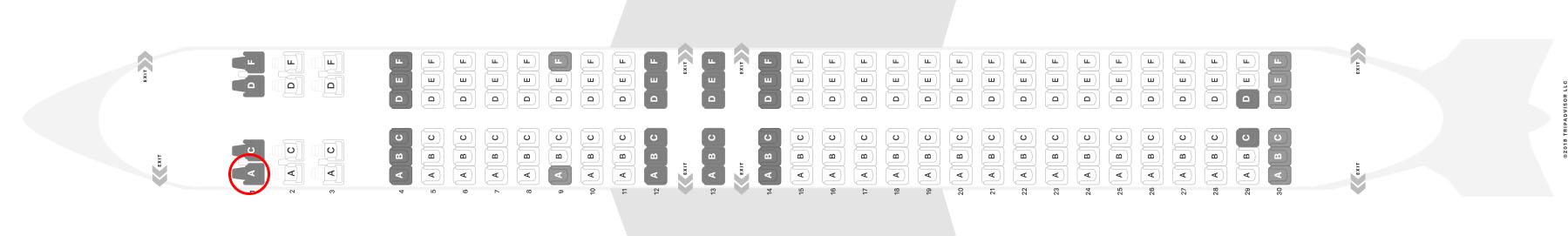 Qantas 737-800 seat map
