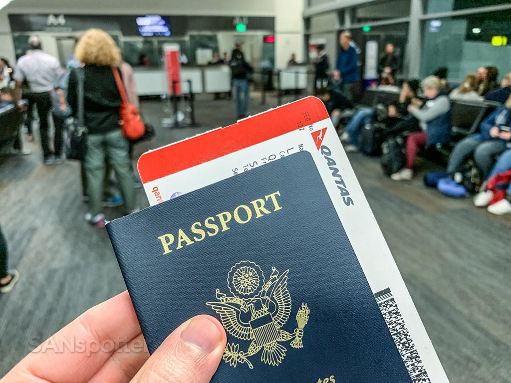 Qantas boarding pass