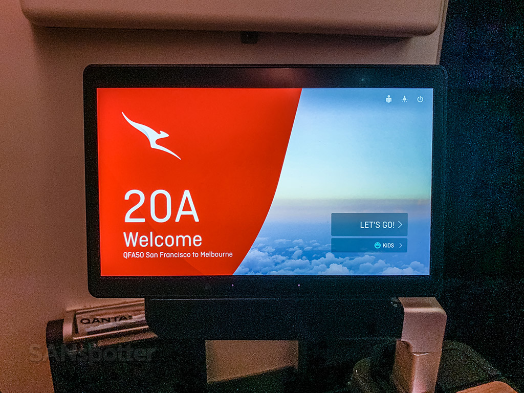 Qantas premium economy video screens