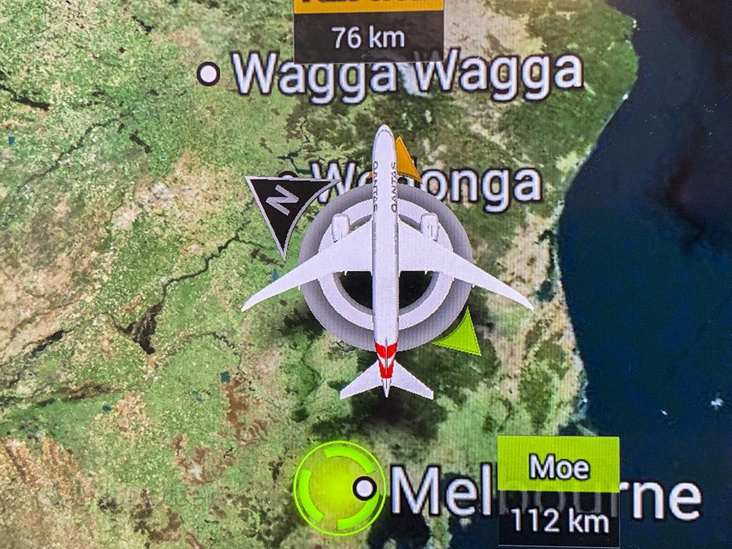 Qantas in flight map