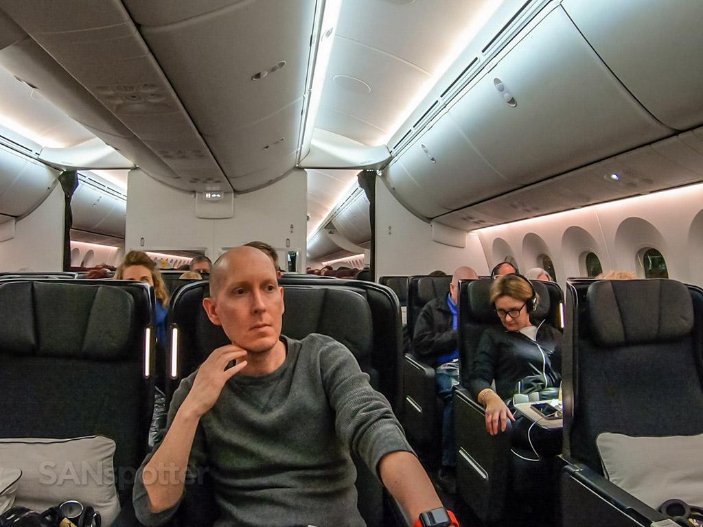 SANspotter selfie Qantas 787-9