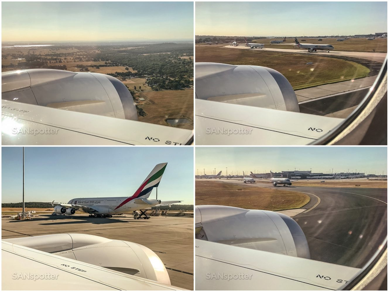 Approach and landing Melbourne airport