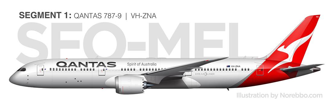 Qantas 787-9 side view