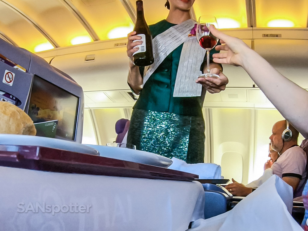 Thai Airways meal service review