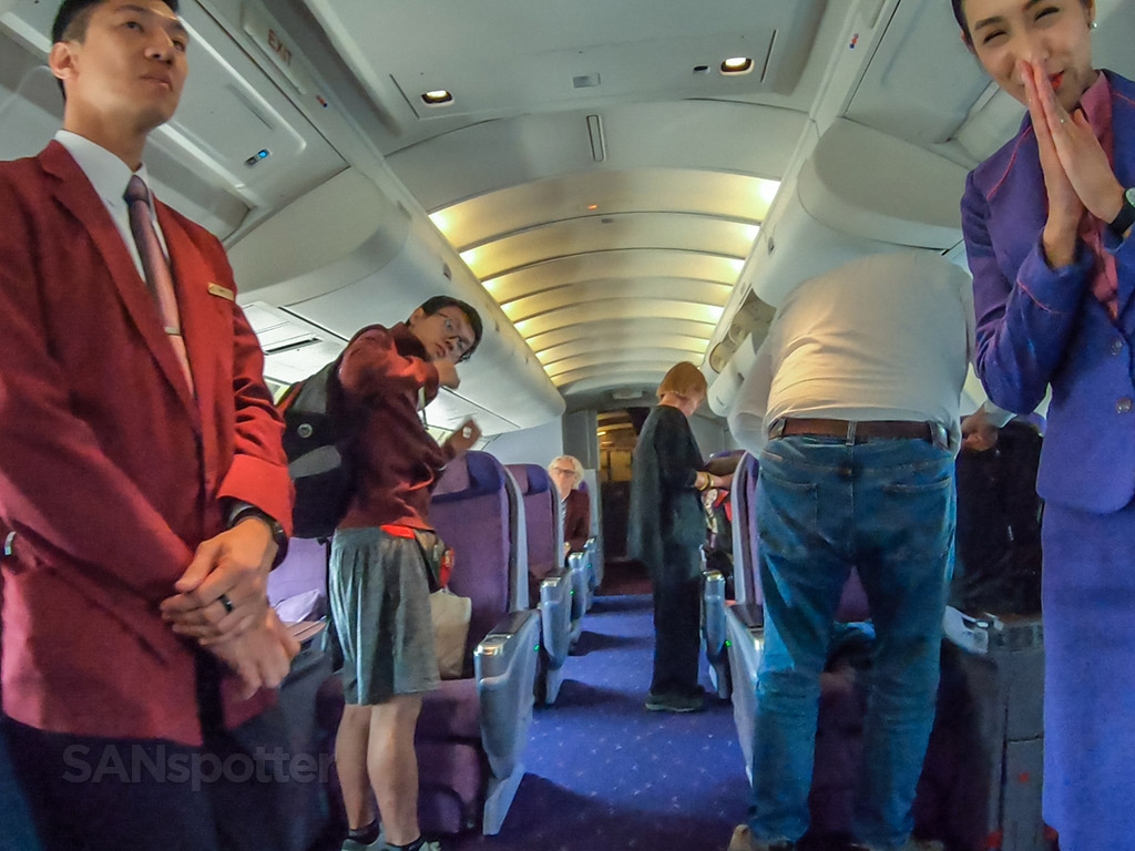Thai Airways business class flight attendants