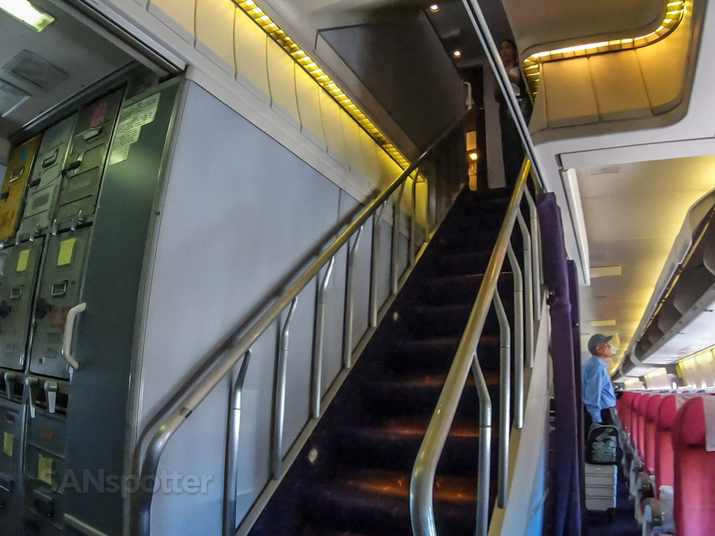 Thai Airways 747-400 staircase
