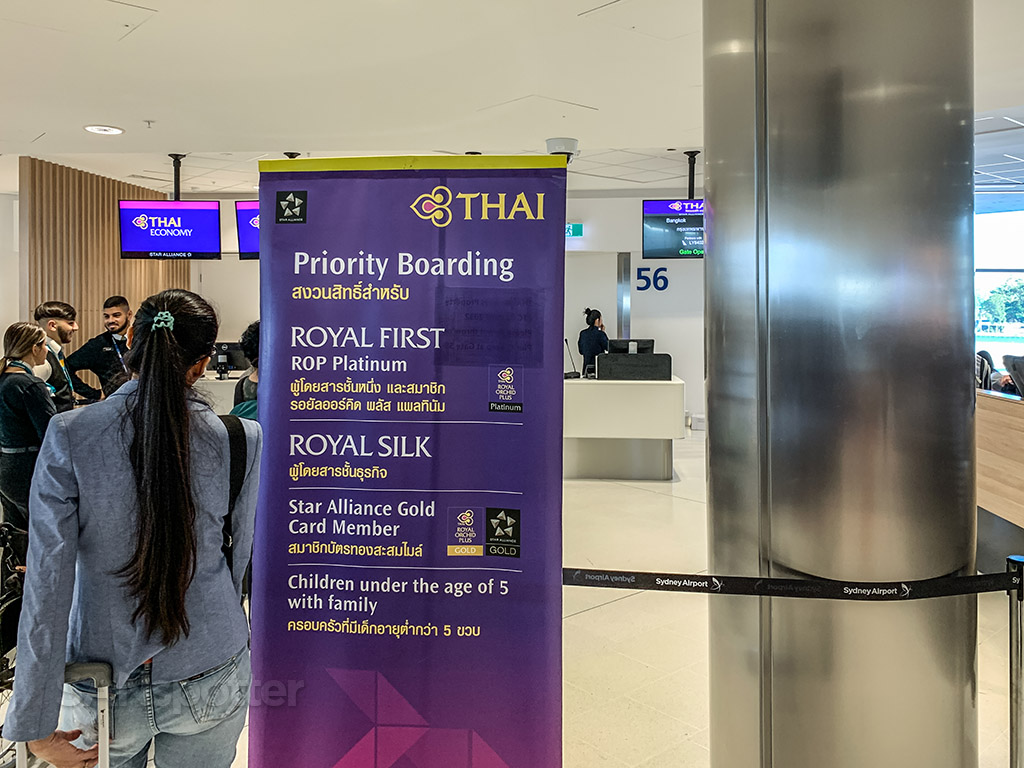 Thai Airways Priority boarding