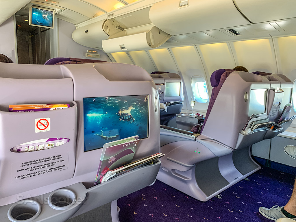 Thai Airways 747-400 upper deck