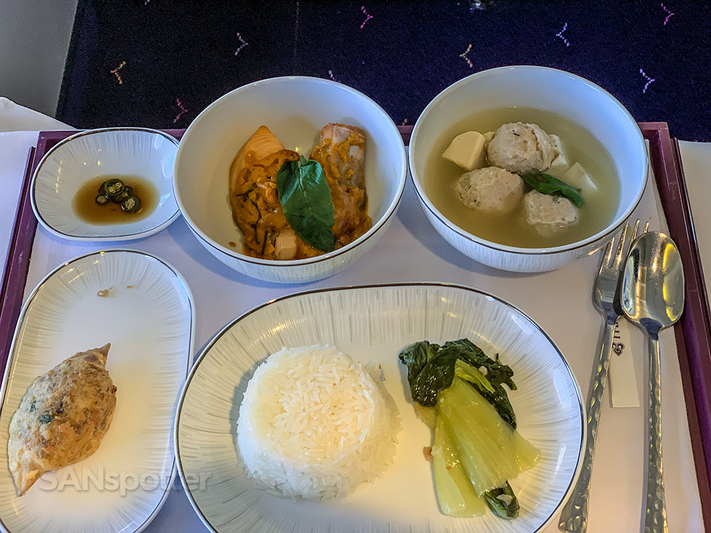 Thai Airways business class meal pics