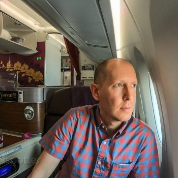 SANspotter selfie Thai Airways business class