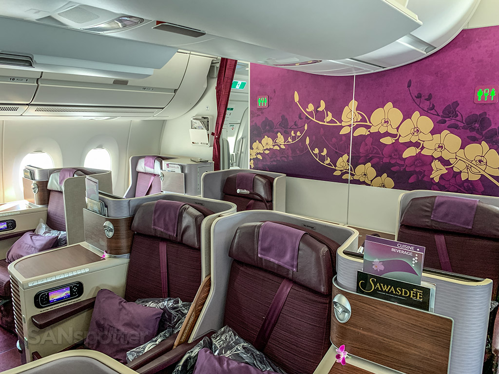 Thai Airways A350 business class seats