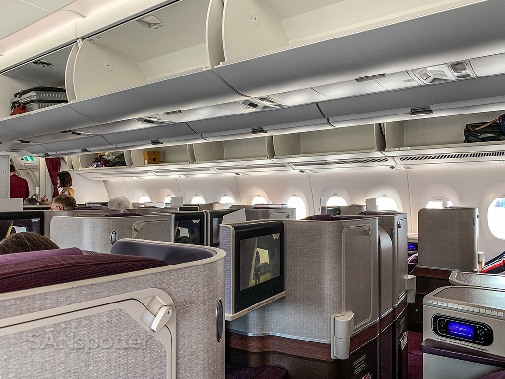 Thai Airways A350 business class cabin