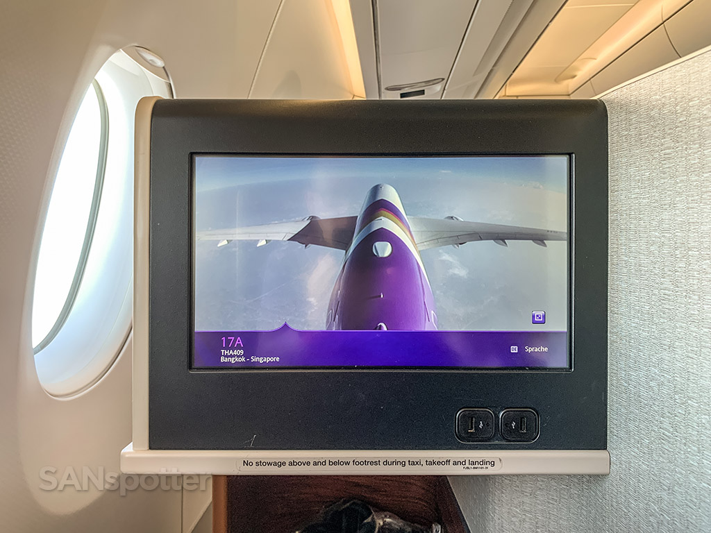 Thai Airways A350 tail camera