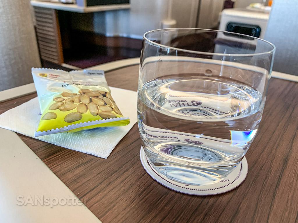 Thai Airways business class snack