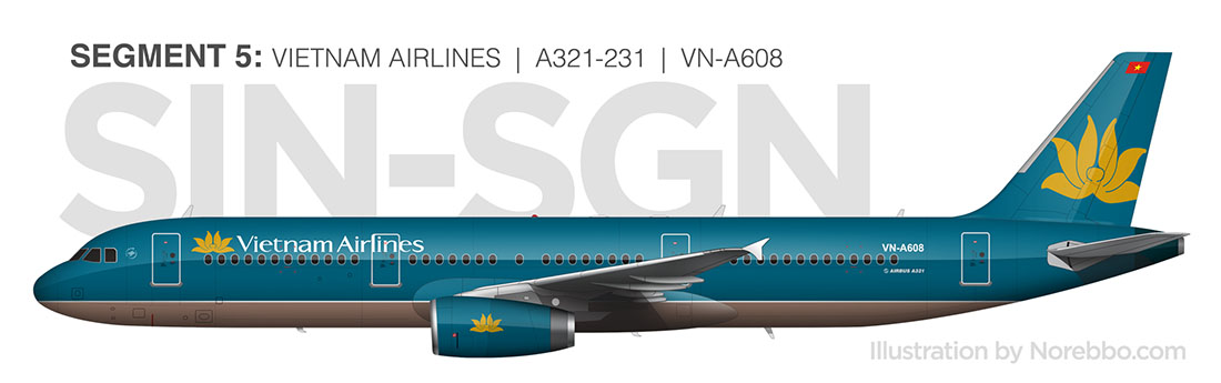 Vietnam Airlines a321 side view