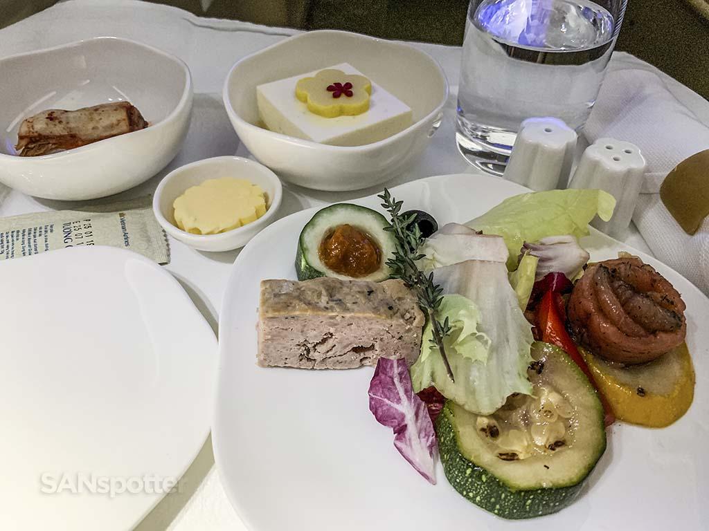 business class appetizer