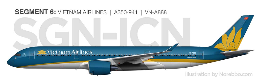 Vietnam Airlines A350-900 side view