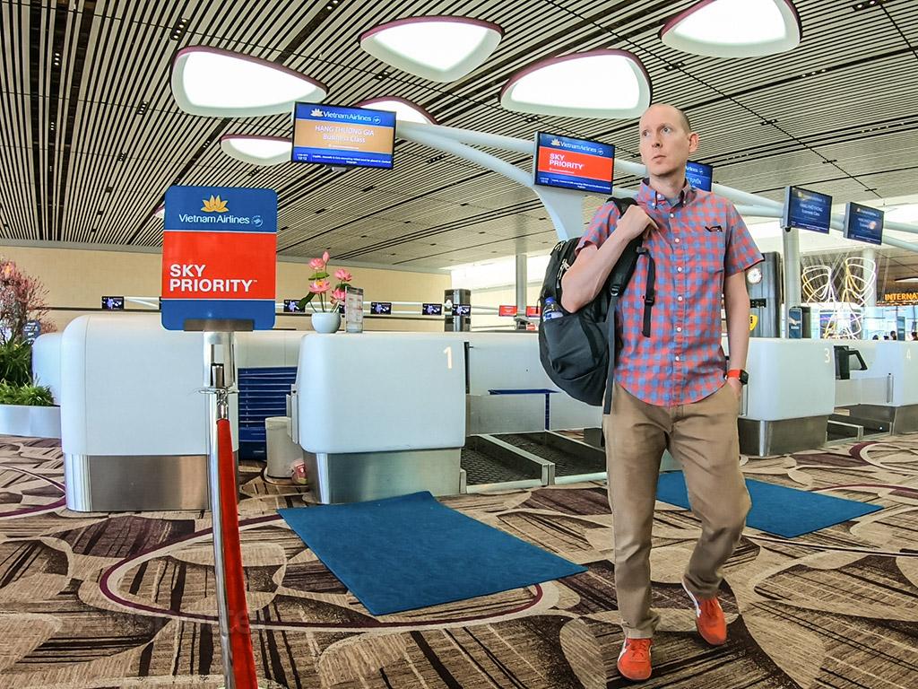 SANspotter selfie Changi airport