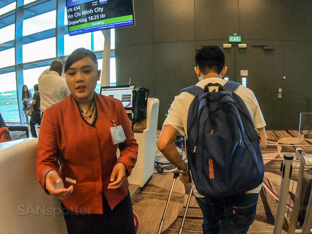 Vietnam Airlines gate agent