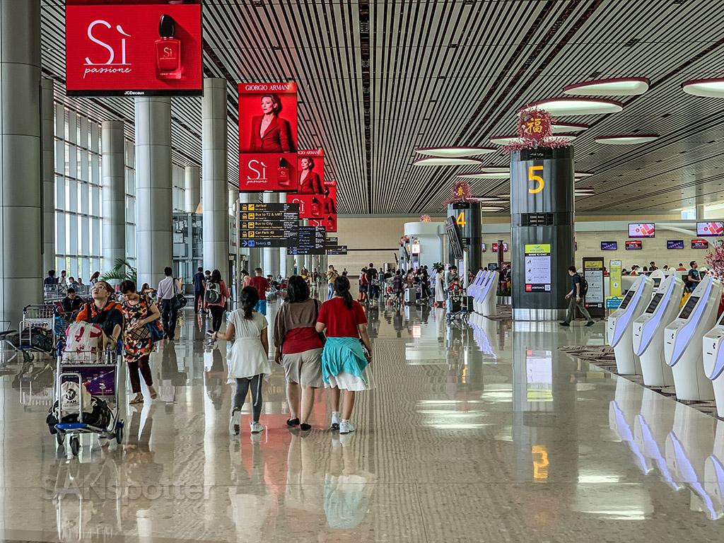 Singapore airport ticketing hall