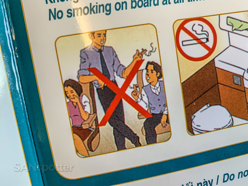 Vietnam Airlines a321 saftey card pictures
