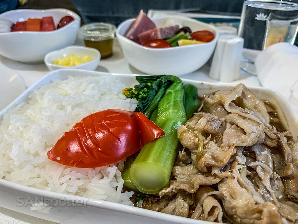 Vietnam Airlines business class food