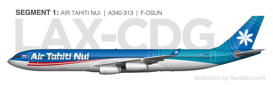 Air Tahiti Nui a340 side view