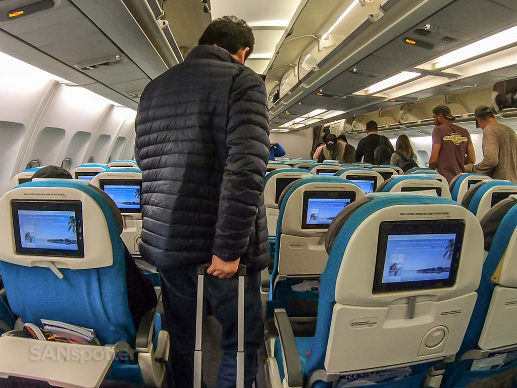 Air Tahiti Nui economy class video screens