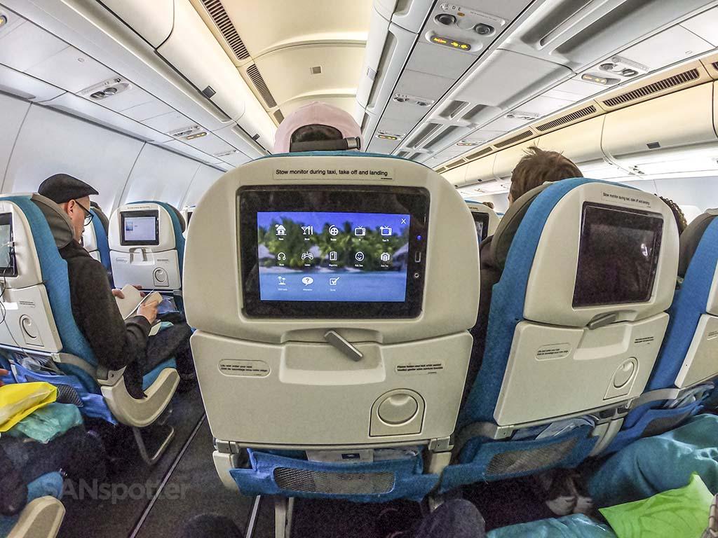 Air Tahiti Nui economy class interior