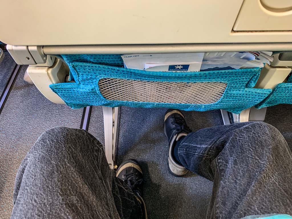 Air Tahiti Nui economy seat pitch