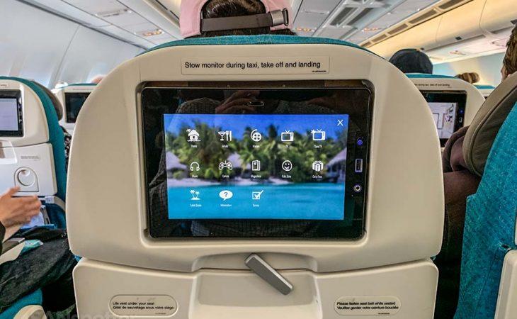 Air Tahiti Nui video screens