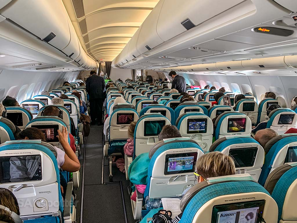 Air Tahiti Nui economy class pic