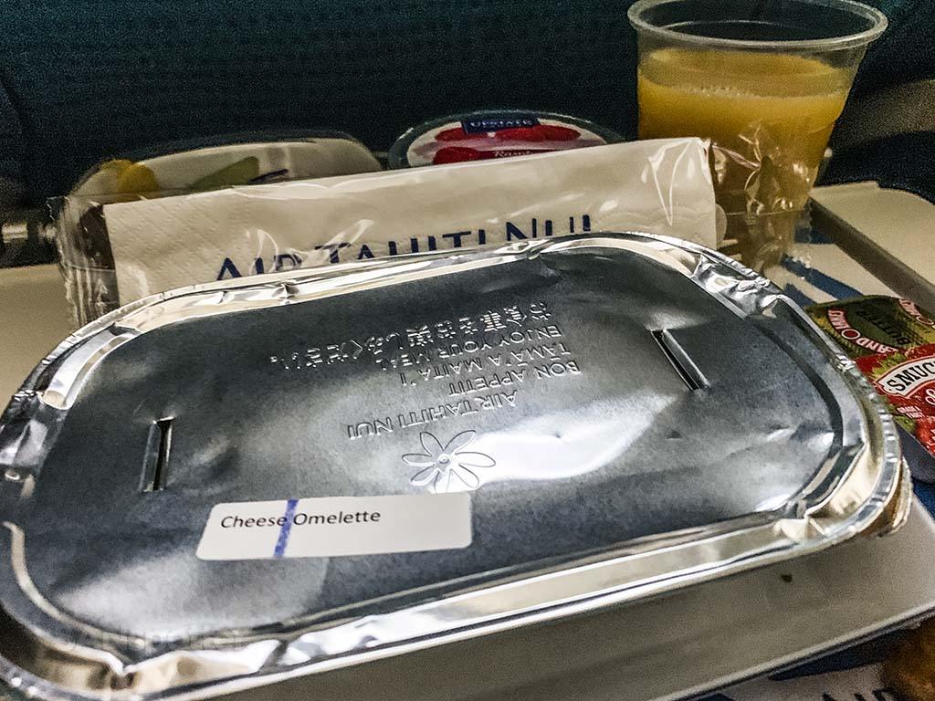 Air Tahiti Nui breakfast