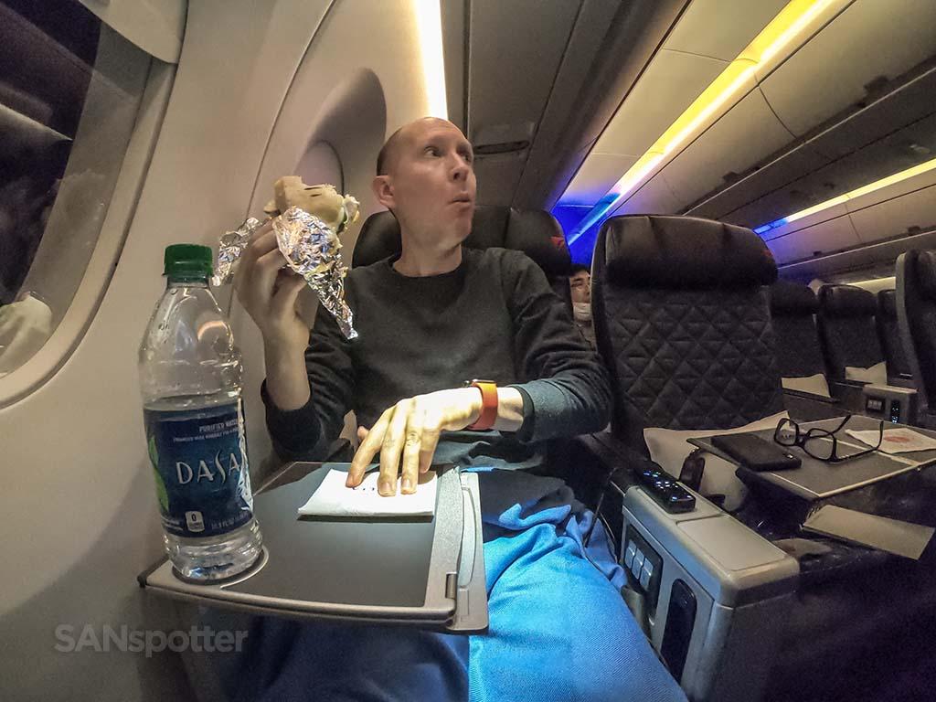 SANspotter selfie delta premium economy review