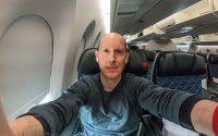 SANspotter selfie delta premium economy A350