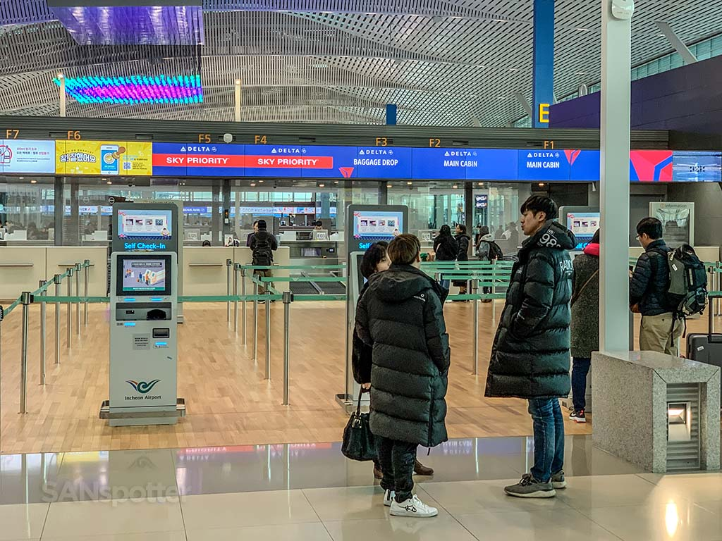 Delta check in Incheon airport