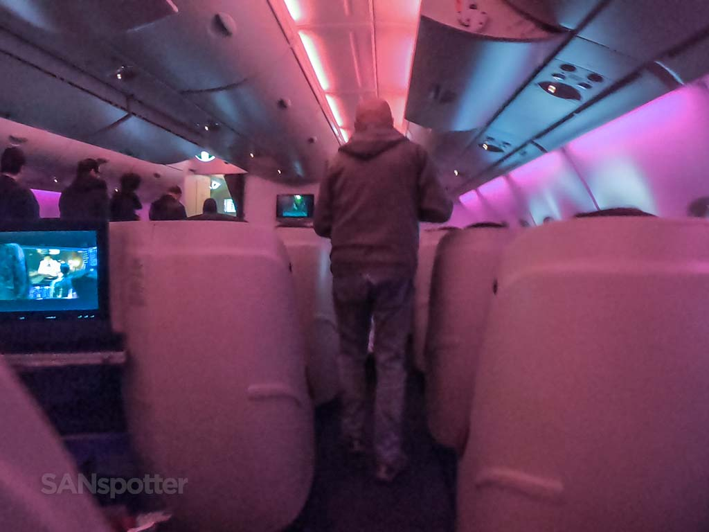 Qatar Airways a380 business class mood lighting