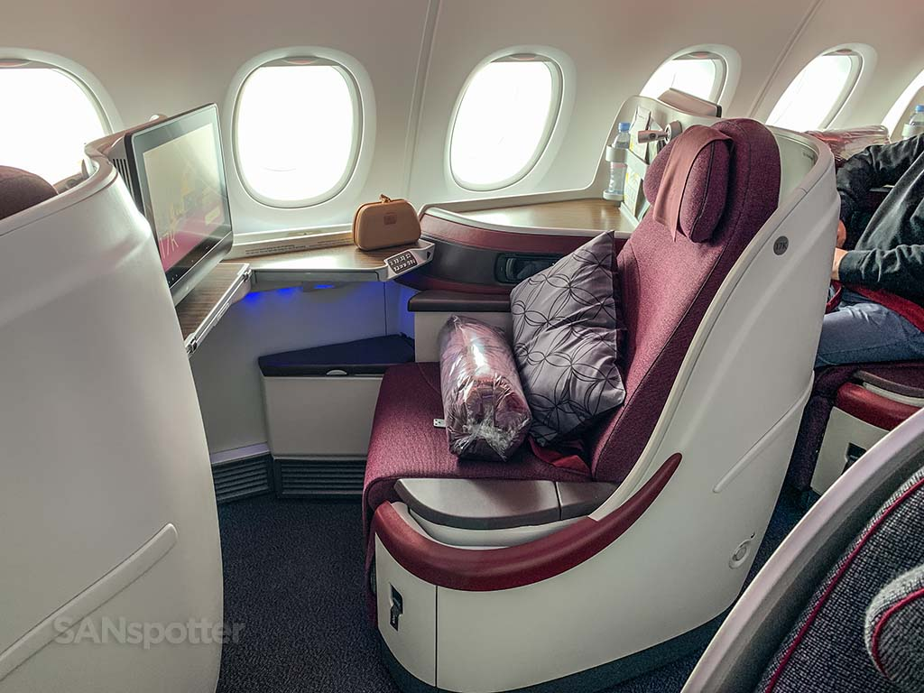 Qatar Airways a380 business class seat