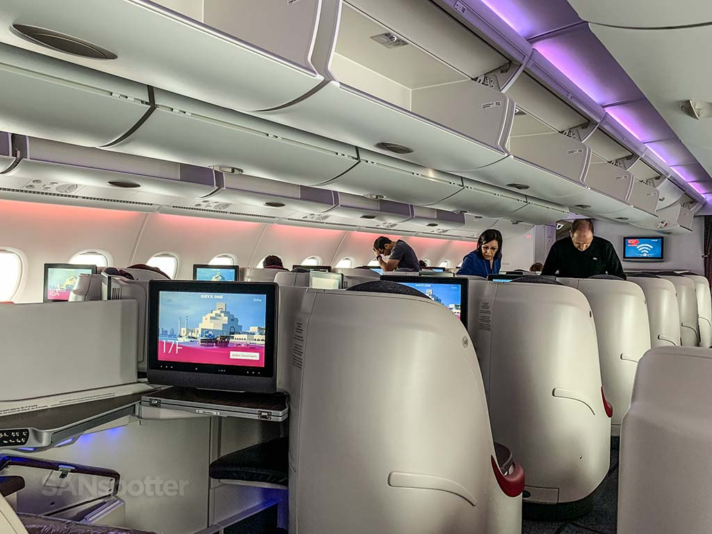 Qatar Airways business class privacy