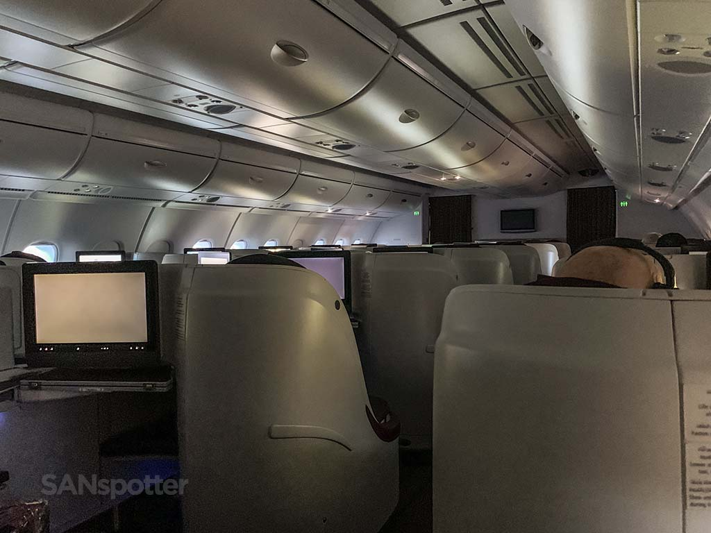 Qatar Airways a380 business class interior
