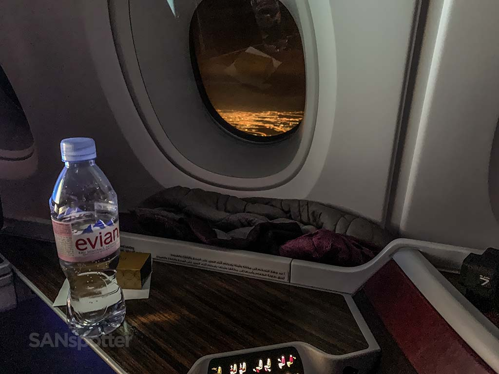 Flying into Doha